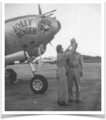 Ben and Butchie with his P-38